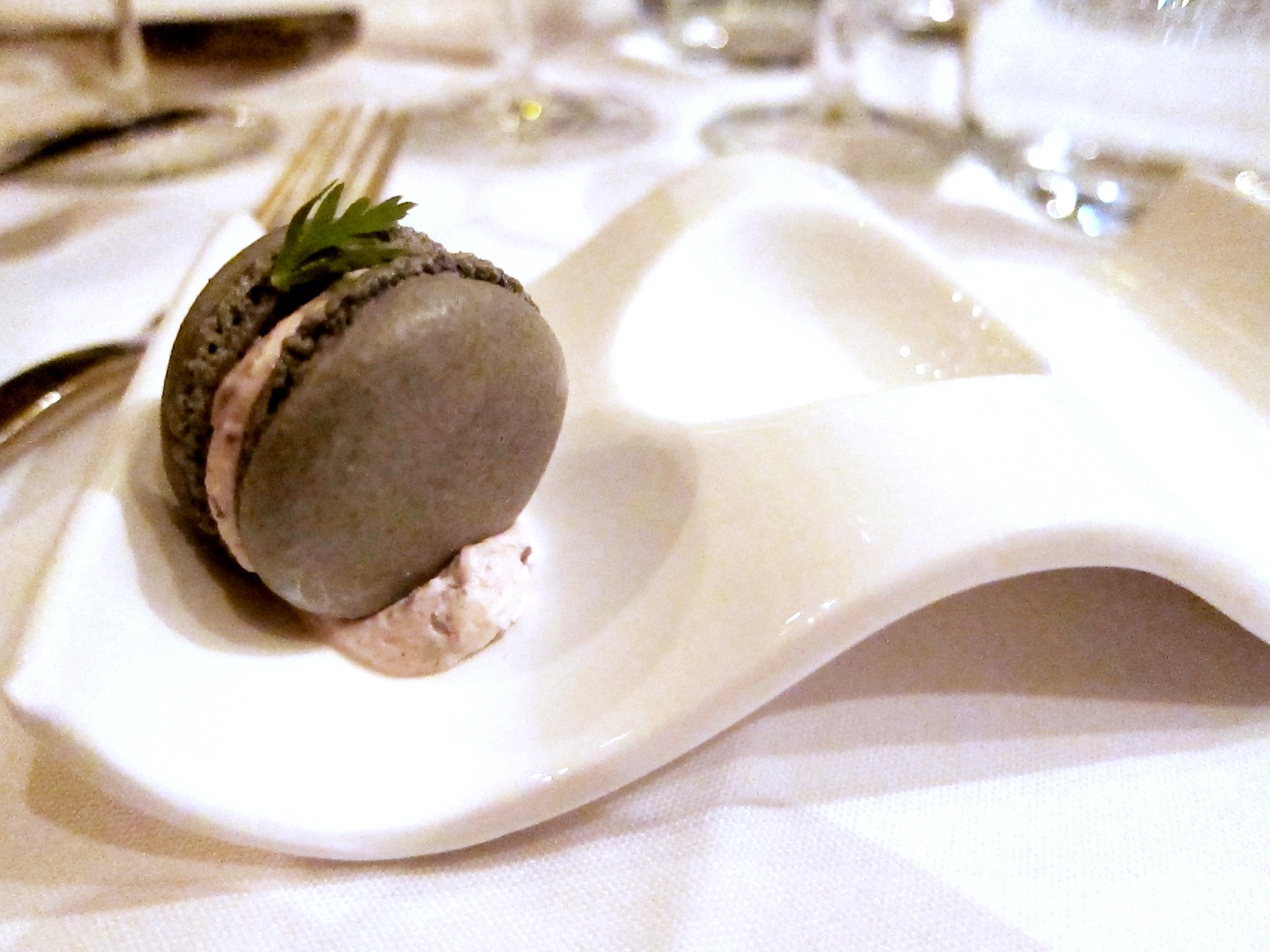 Amuse-bouches: Olive and Goat Cheese Macaron