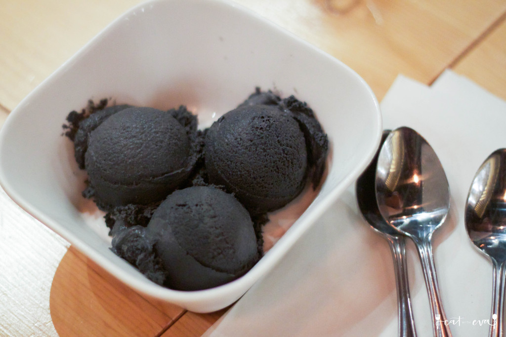 Kinka Izakaya - black sesame ice cream