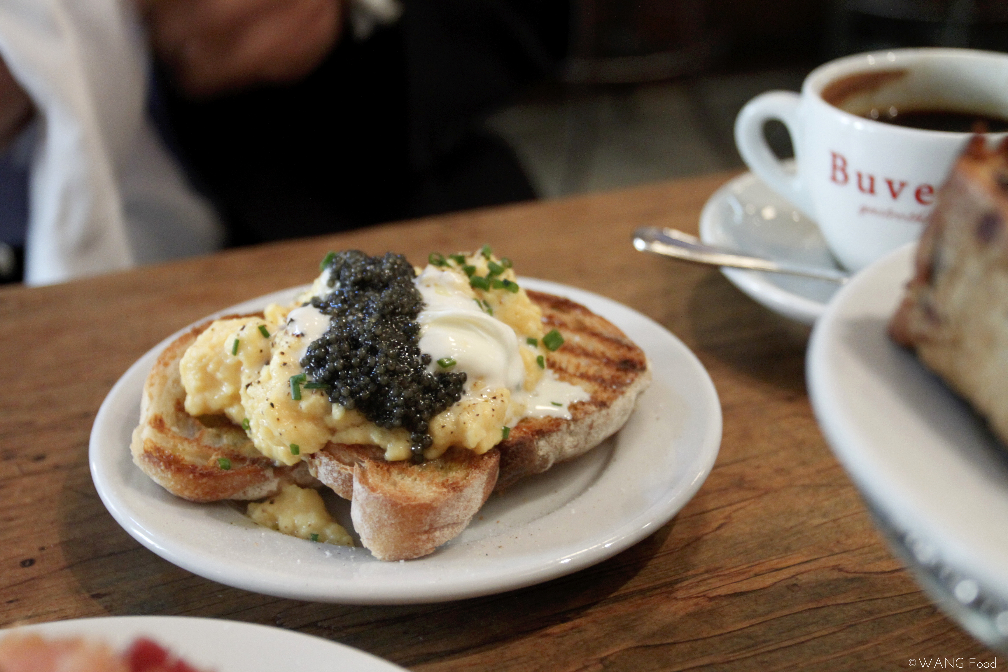 Special of the day - scrambled eggs with caviar